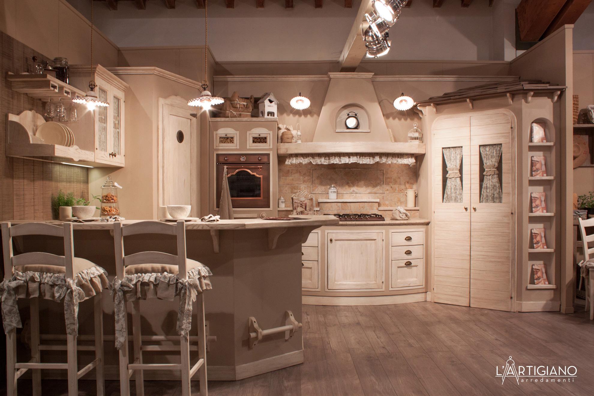 Penisola Cucina In Muratura cucina country: cucina in muratura rhonda avorio - l