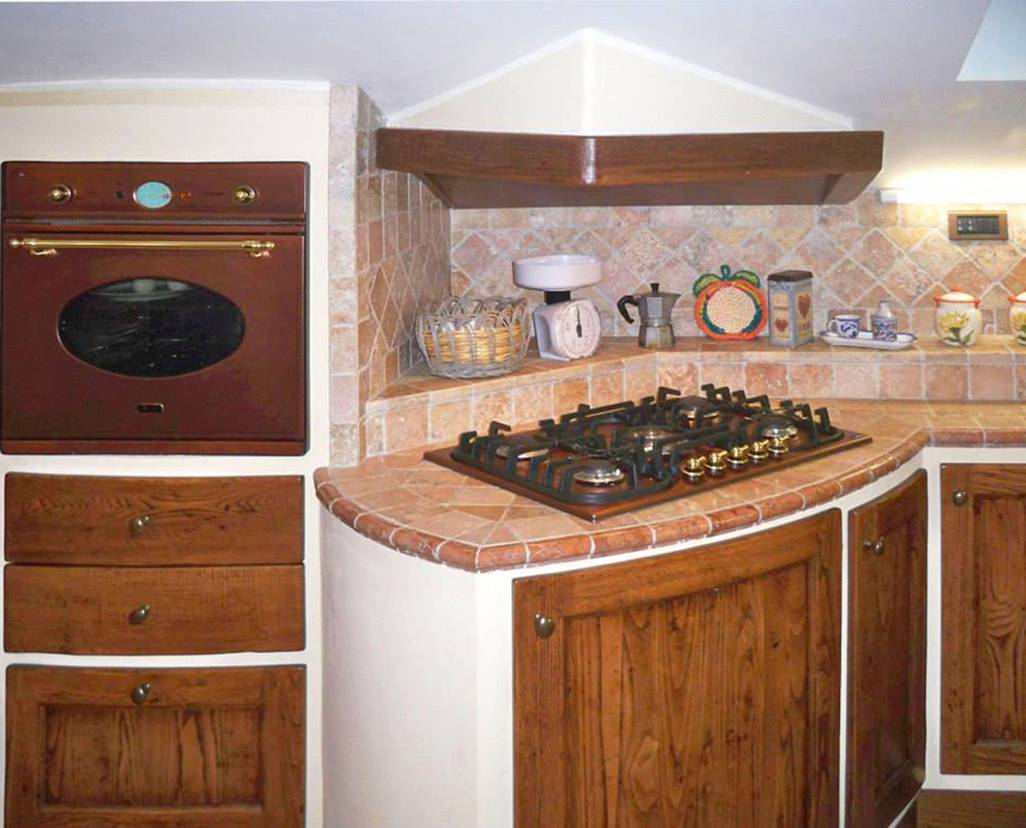 Mobili Per Cucinino Piccolo cucine in muratura per piccoli spazi - l'artigiano arredamenti