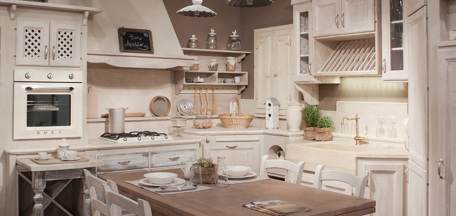 Cucine In Muratura Bianche cucina in muratura shabby chic: cucina masilea - l'artigiano