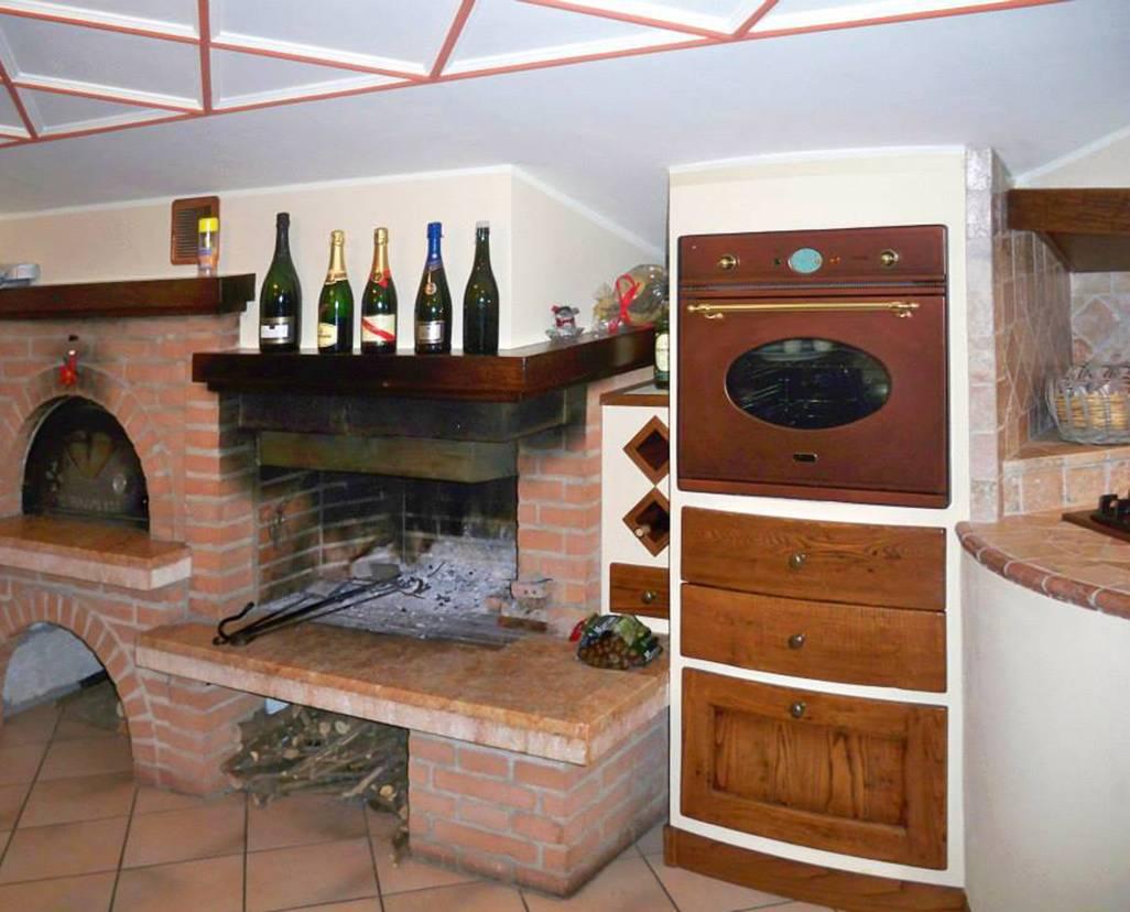 Piano Cottura In Muratura cucine in muratura per piccoli spazi - l'artigiano arredamenti